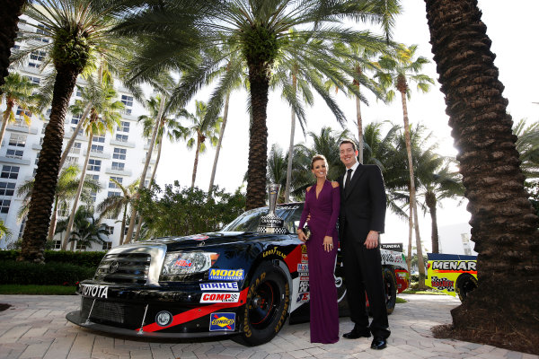 18 November, 2013, Miami Beach, Florida, USA Kyle and Samantha Busch © 2013, Michael L. Levitt LAT Photo USA