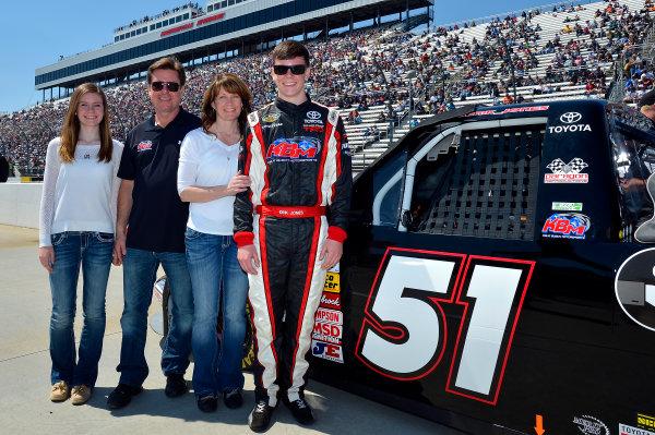 April 5-6, 2013 Martinsville, Virginia USA Erik Jones with family © 2013, Brian Czobat LAT Photo USA .