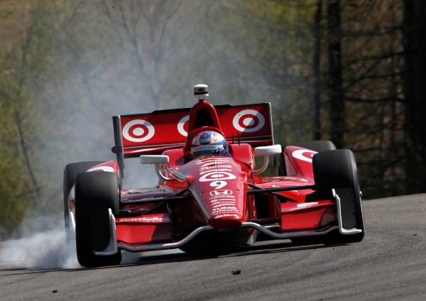 5-7 April, 2013, Birmingham, Alabama USA Scott Dixon locks his brakes in turn two ©2013, Phillip Abbott LAT Photo USA