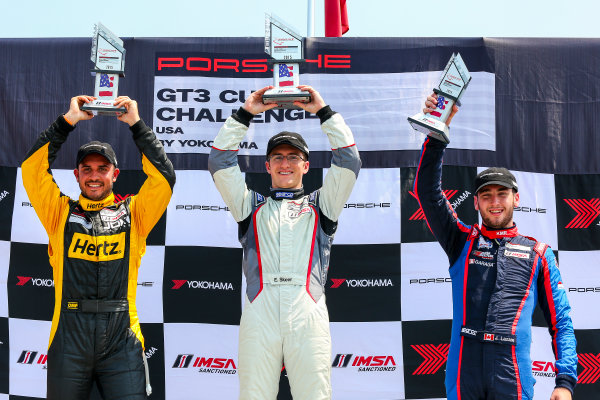 10-12 July 2015, Bowmanville, Ontario Canada Race 1, GT3 Cup USA, Platinum Podium ?2015, Jake Galstad LAT Photo USA