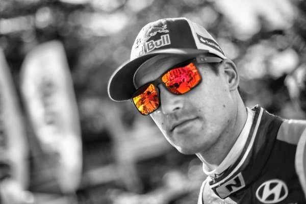Dani Sordo (ESP) Hyundai i20 WRC at FIA World Rally Championship, Rd7, Lotos 71st Rally Poland, Preparations & Shakedown, Mikolajki, Poland, Thursday 2 July 2015.