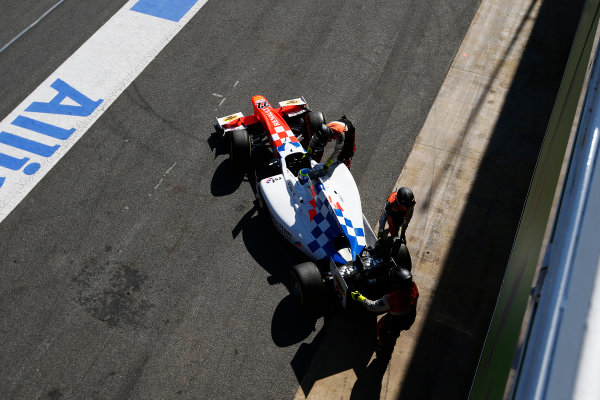 2016 GP2 Series Test 1. Circuit de Catalunya, Barcelona, Spain. Friday 11 March 2016. Oliver Rowland (GBR, MP Motorsport)  World Copyright: Sam Bloxham/LAT Photographic. ref: Digital Image _L4R9620