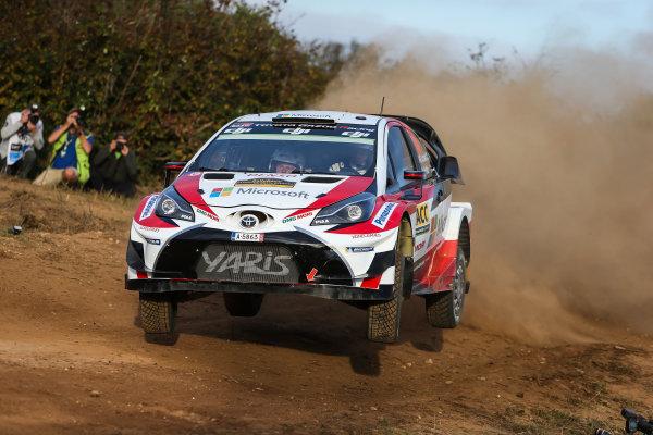 2017 FIA World Rally Championship, Round 11, Rally RACC Catalunya / Rally de España, 5-8 October, 2017, Jari-Matti Latvala, Toyota, action, Worldwide Copyright: LAT/McKlein