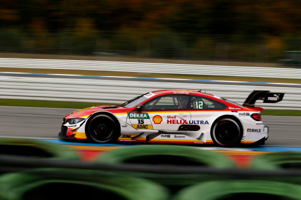 2017 DTM Round 9  Hockenheimring, Germany  Friday 13 October 2017. Augusto Farfus, BMW Team RMG, BMW M4 DTM  World Copyright: Alexander Trienitz/LAT Images ref: Digital Image 2017-DTM-HH2-AT2-0361