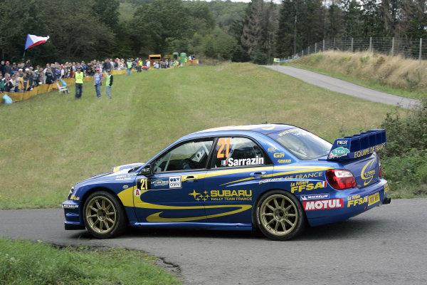 2004 FIA World Rally Champs. Round ten, OMV Deutschland Rally.19th - 22nd August 2004.Stephane Sarrazin, Subaru, action.World Copyright: McKlein/LAT
