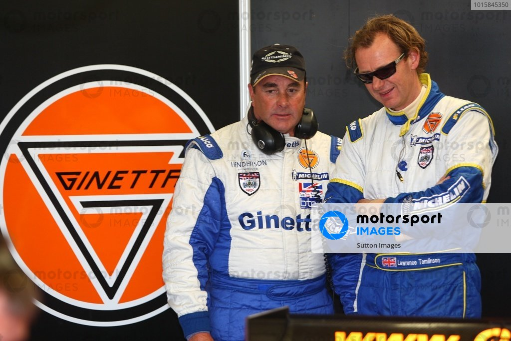 L-R: Nigel Mansell (GBR) and Lawrence Tomlinson (GBR), Team LNT.Le Mans Series, Rd7, Silverstone, England, Sunday 13 September 2009.