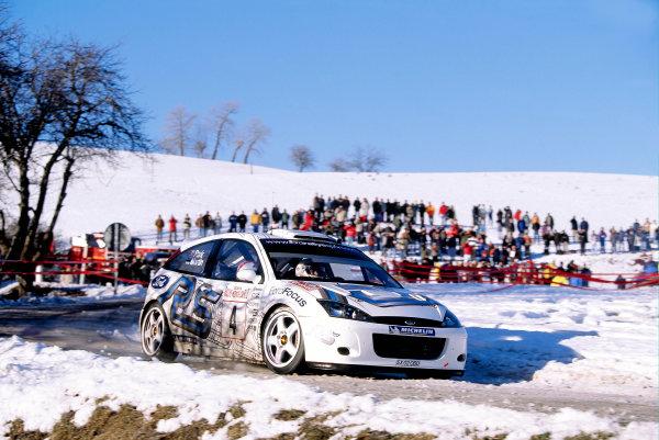 2003 FIA World Rally Championship. Monte Carlo, Monaco. Rd1.23-26 January 2003.Markko Martin/Michael Park (Ford Focus RS WRC '02) 4th position. World Copyright: McKlein/LAT Photographicref: 35mm Image A05