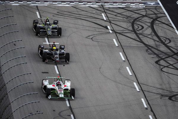Colton Herta, Harding Steinbrenner Racing Honda, Spencer Pigot, Ed Carpenter Racing Chevrolet, Josef Newgarden, Team Penske Chevrolet