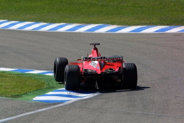 Michael Schumacher(GER) Ferrari F1 2001 German Grand Prix Practice, Hockenheim 27 July 2001 DIGITAL IMAGE