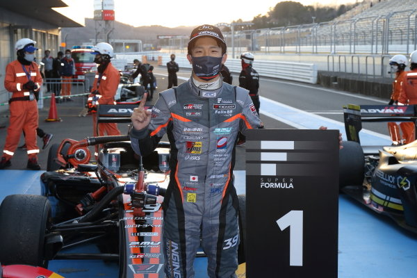 Winner Syo Tsuboi ( #39 JMS P.MU/CERUMO・INGING, Dallara SF19 Toyota ) celebrates in parc ferme