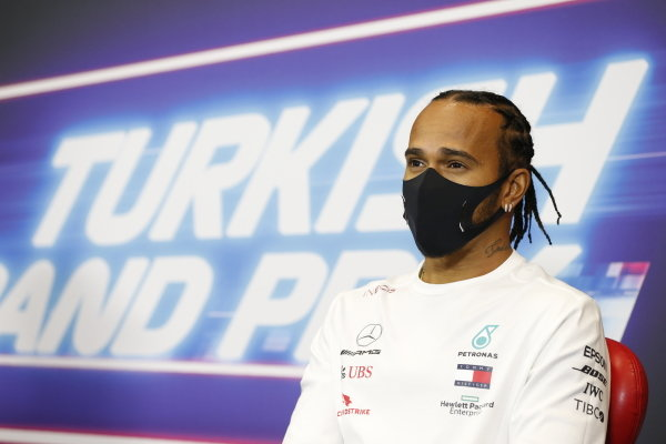 Lewis Hamilton, Mercedes-AMG Petronas F1, in the press conference