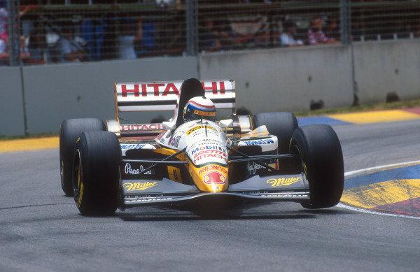 1994 Australian Grand Prix.Adelaide, Australia.11-13 November 1994.Alessandro Zanardi (Lotus 109 Mugen-Honda). He exited the race when his throttle stuck open.Ref-94 AUS 11.World Copyright - LAT Photographic