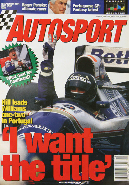 Cover of Autosport magazine, 29th September 1994
