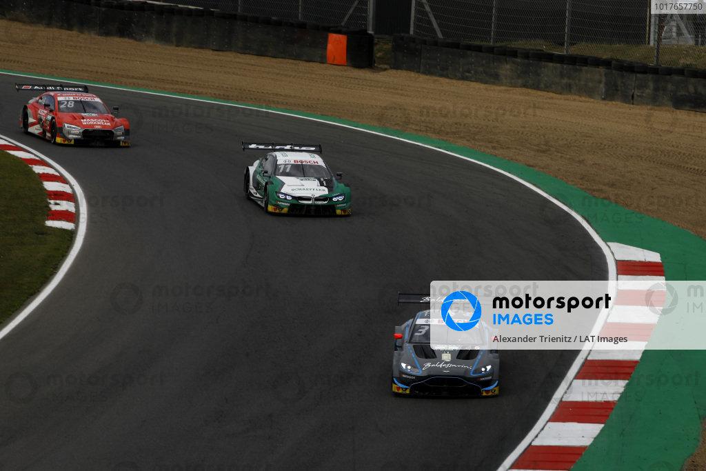 Paul Di Resta, R-Motorsport, Aston Martin Vantage AMR, Marco Wittmann, BMW Team RMG, BMW M4 DTM, Loic Duval, Audi Sport Team Phoenix, Audi RS 5 DTM.