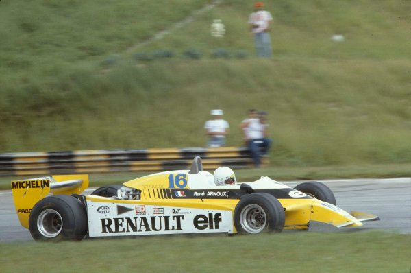 1980 Brazilian Grand Prix.Interlagos, Sao Paulo, Brazil.25-27 January 1980.Rene Arnoux (Renault RE21) 1st position.Ref-80 BRA 06.World Copyright - LAT Photographic