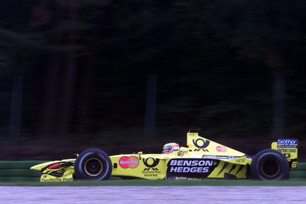2000 German Grand Prix.Hockenheim, Germany. 28-30 July 2000.Jarno Trulli (Jordan EJ10 Mugen Honda) 9th position.World Copyright - Bellanca/LAT Photographicref: 5mb digital Practice