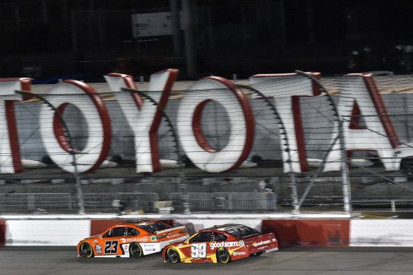 #23: Bubba Wallace, 23XI Racing, Toyota Camry Door Dash and #99: Daniel Suarez, TrackHouse Racing, Chevrolet Camaro Good Sam