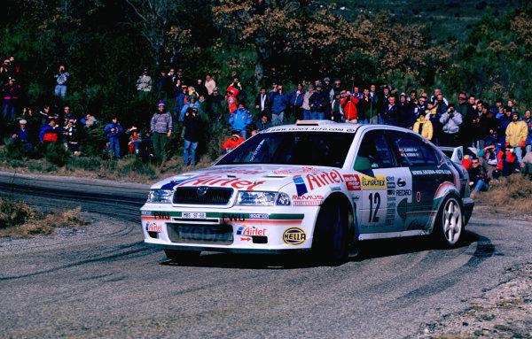WRC Monte Carlo 2000The Skoda of 10th place L Climent.Photo: McKlein/LATTel: +44 (0)181 251 3000Fax: +44 (0)181 251 3001Somerset House, Somerset Road, Teddington, Middlesex, United Kingdon. TW11 8RU