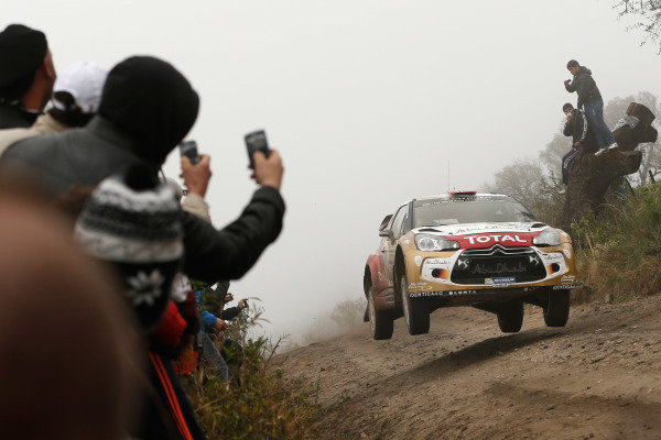 Mads Ostberg (NOR) / Jonas Andersson (SWE), Citroen DS3 WRC. FIA World Rally Championship, Rd5, Rally Argentina, Day Two, Cordoba-Villa Carlos Paz, Argentina, 10 May 2014.