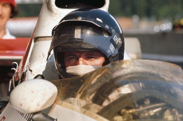 1973 Austrian Grand Prix.  Osterreichring, Austria. 17-19th August 1973.  Graham Hill, Shadow DN1 Ford.  Ref: 73AUT50. World Copyright: LAT Photographic