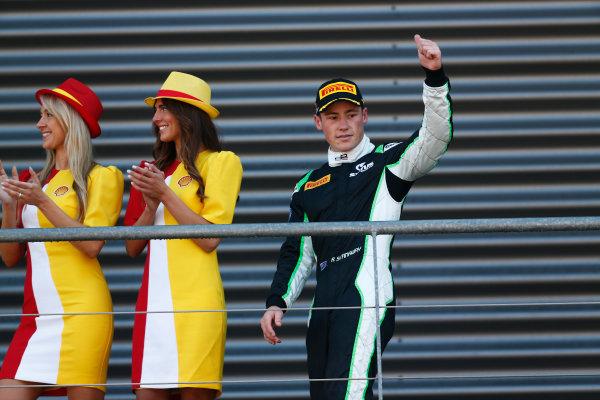 2014 GP3 Series Round 6. Spa-Francorchamps, Spa, Belgium. Sunday 24 August 2014. Richie Stanaway (NZL, Status Grand Prix)  Photo: Sam Bloxham/GP3 Series Media Service. ref: Digital Image _SBL7048