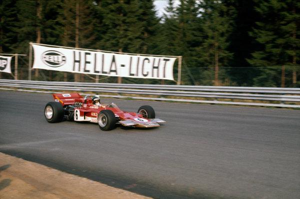 Osterreichring, Zeltweg, Austria. 14-16 August 1970.  Jochen Rindt, Lotus 72C Ford.  Ref: 70AUT06. World Copyright: LAT Photographic