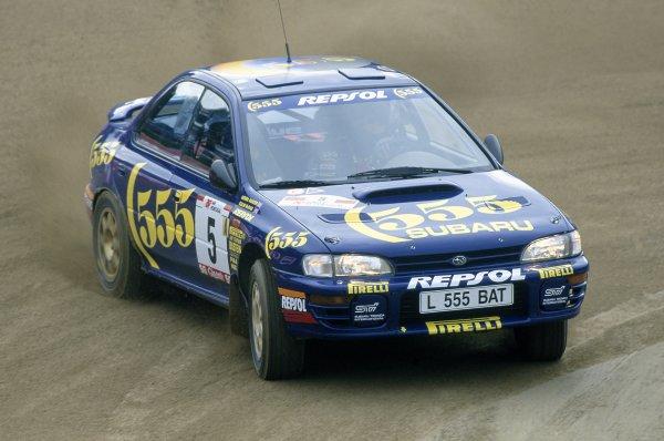 1994 World Rally Championship.Portuguese Rally, Portugal. 1-4 March 1994.Colin McRae/Derek Ringer (Subaru Impreza 555), retired.World Copyright: LAT PhotographicRef: 35mm transparency 94RALLY16