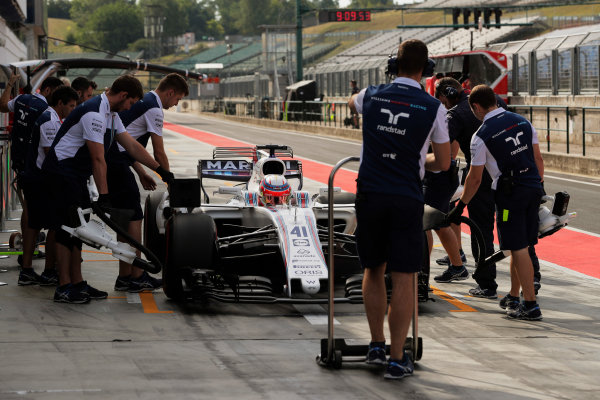 Hungaroring, Budapest, Hungary.  Wednesday 02 August 2017. Luca Ghiotto, Williams FW40 Mercedes. World Copyright: Zak Mauger/LAT Images  ref: Digital Image _54I7990