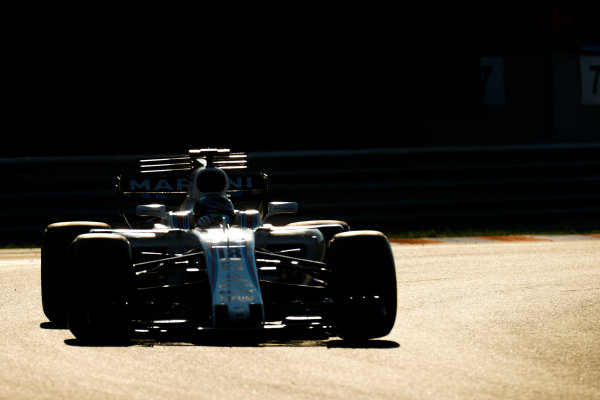 Hungaroring, Budapest, Hungary.  Tuesday 01 August 2017. Lance Stroll, Williams FW40 Mercedes. World Copyright: Joe Portlock/LAT Images  ref: Digital Image _R3I2803
