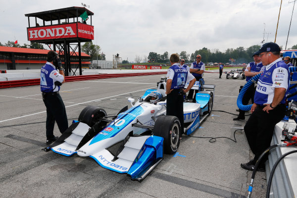 Verizon IndyCar Series Honda Indy 200 at Mid-Ohio Mid-Ohio Sports Car Course, Lexington, OH USA Friday 28 July 2017 Alexander Rossi, Andretti Herta Autosport with Curb-Agajanian Honda World Copyright: Phillip Abbott LAT Images ref: Digital Image abbott_midohio_0717_0042