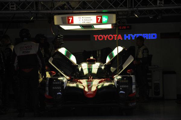 2017 FIA World Endurance Championship, Shanghai, China. 3rd-5th November 2017, #7 Toyota Gazoo Racing Toyota TS050-Hybrid: Mike Conway, Kamui Kobayashi, Jose Maria Lopez  World Copyright. JEP/LAT Images