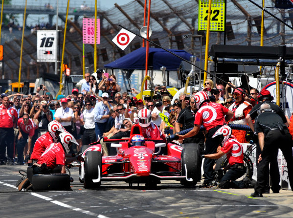 23 May, 2014, Indianapolis, Indiana, USA Scott Dixon during the pit stop competition ©2014, Geoffrey M. Miller LAT Photo USA