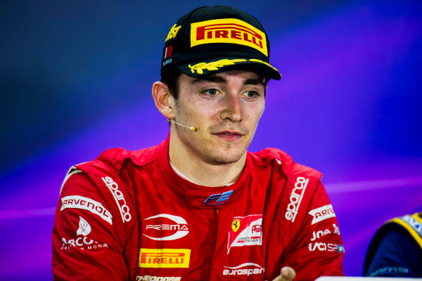 2017 FIA Formula 2 Round 1. Bahrain International Circuit, Sakhir, Bahrain.  Sunday 16 April 2017. Charles Leclerc (MCO, PREMA Racing)  Photo: Zak Mauger/FIA Formula 2. ref: Digital Image _56I2204