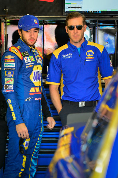2017 Monster Energy NASCAR Cup Series O'Reilly Auto Parts 500 Texas Motor Speedway, Fort Worth, TX USA Friday 7 April 2017 Chase Elliott, Alan Gustafson World Copyright: Logan Whitton/LAT Images ref: Digital Image 17TEX1LW0034