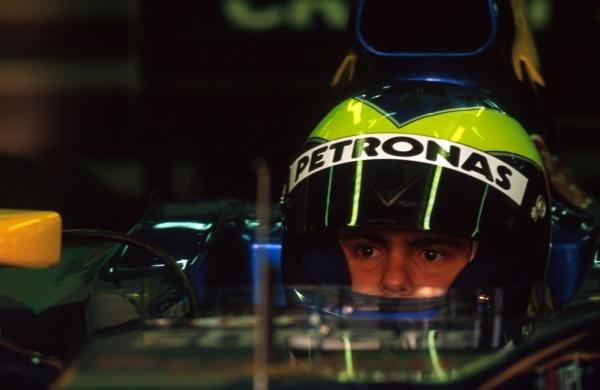 Felipe Massa (BRA) Sauber continues to impress the plaudits with his testing performances.  Formula One Testing, Barcelona, Spain, 27-31 January 2002.