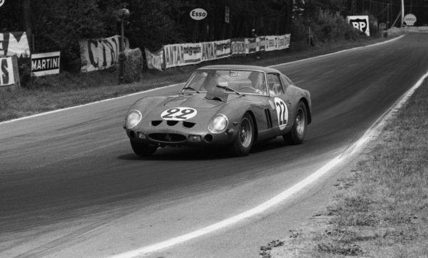 """Jean Beurlys"" (BEL) / ""Elde"" (BEL) Equipe National Belge Ferrari 250 GTO. Le Mans 24 Hours, Le Mans, France, 23-24 June 1962."