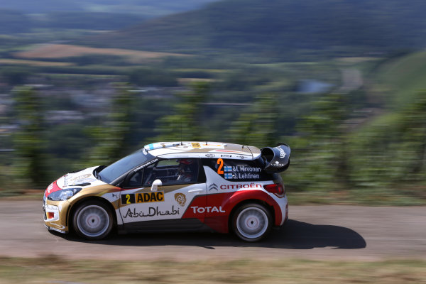 2013 FIA World Rally Championship Round 09-Rally Germany 21-25/8 2013. Mikko Hirvonen, Citroen, Action  Worldwide Copyright: McKlein/LAT
