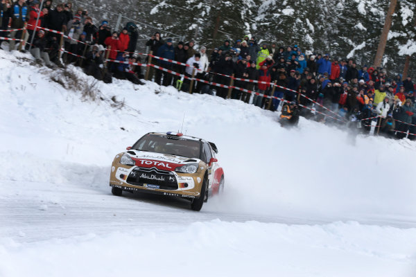 2013 FIA World Rally Championship Round 02-Rally Sweden 07-10 Februari 2013. Sebastien Loeb, Citroen WRC, Action.. Worldwide Copyright: McKlein/LAT