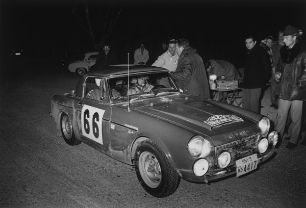 Monte Carlo, Monaco. 24th - 28th January 1968.Hannu Mikkola, action. World Copyright: LAT PhotographicRef: B/W Print.