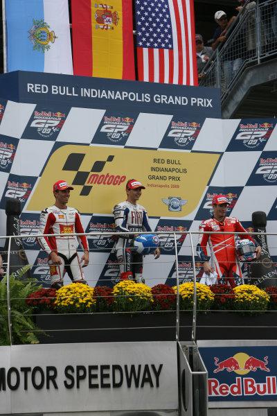 Indianapolis Grand Prix, Indianapolis, USA.28th - 30th August 2009.MotoGP podium.World Copyright: Martin Heath/LAT Photographic ref: Digital Image SE5K6487