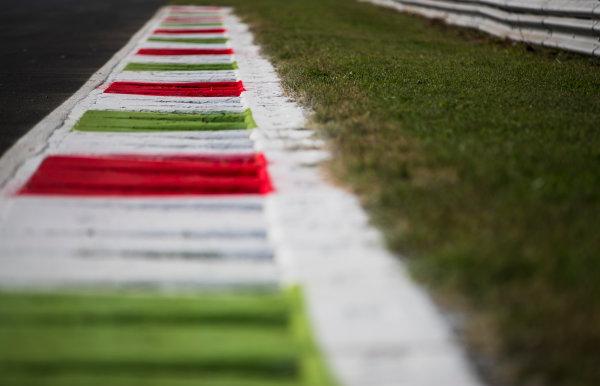 2017 GP3 Series Round 6.  Autodromo Nazionale di Monza, Monza, Italy. Thursday 31 August 2017. Kerbs. Photo: Zak Mauger/GP3 Series Media Service. ref: Digital Image _54I4844