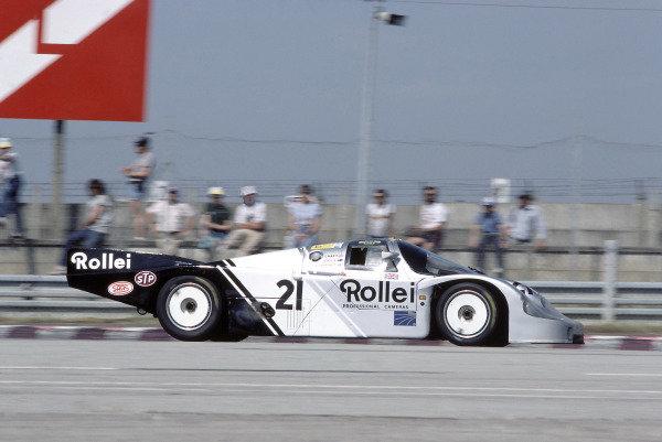 1984 Le Mans 24 HoursLe Mans, France. 16th - 17th June 1984. Chris Craft/Alain de Cadenet/Allan Grice (Porsche 956), retired, action.  World Copyright: LAT Photographic. ref: 84LM22.