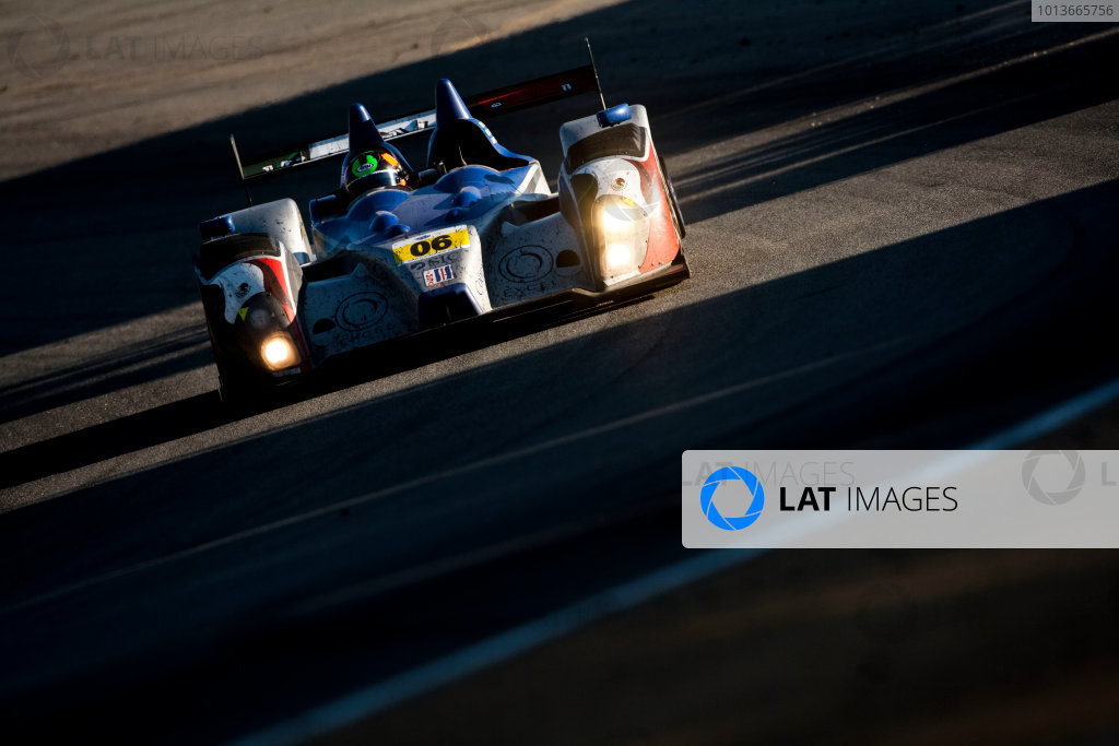American Le Mans Series. Laguna Seca, Monterey, California. 15th - 17th September 2011. Gunnar Jeannette / Ricardo Gonzalez / Rudy Junco, Core Autosport, Oreca FLM09. Action. Photo: Drew Gibson/LAT Photographic. ref: Digital Image _Y2Z6764