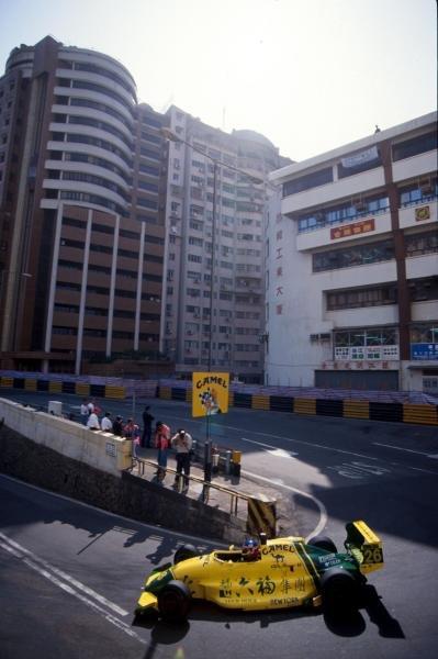 Jacques Villeneuve (CDN) took part in the Macau Formula Three race for the first time.  International Formula Three, Macau, Hong Kong, 24 November 1991.
