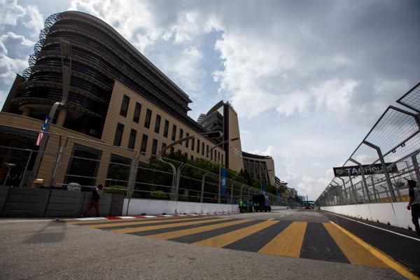 2015/2016 FIA Formula E Championship. Putrajaya ePrix, Putrajaya, Malaysia. Friday 6 November 2015. A view of the circuit. Photo: Zak Mauger/LAT/Formula E ref: Digital Image _L0U9693