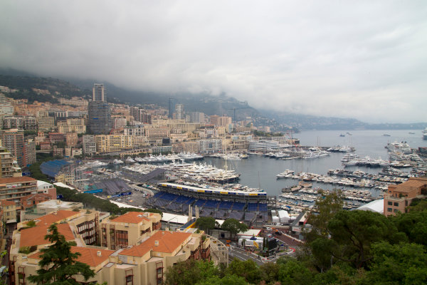2014/2015 FIA Formula E Championship. Monaco Scenery. Thursday Set-Up. Monaco ePrix, Monte Carlo, Monaco, Europe. Thursday 7 May 2015  Photo: Adam Warner/LAT/Formula E ref: Digital Image _L5R7946