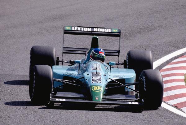 1990 Japanese Grand Prix.Suzuka, Japan.19-21 October 1990.Ivan Capelli (Leyton House CG901 Judd).Ref-90 JAP 35.World Copyright - LAT Photographic