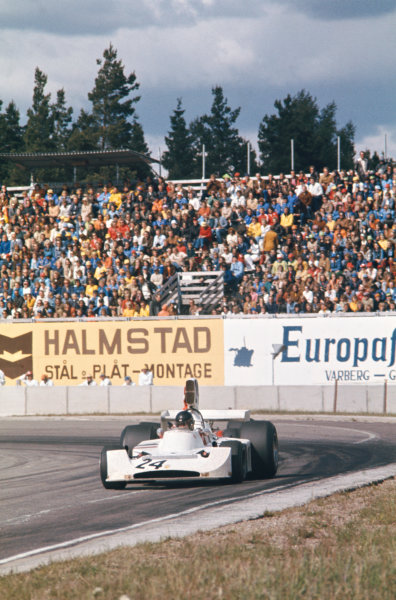 1974 Swedish Grand Prix  Anderstorp, Sweden. 7-9 June 1974.  James Hunt, Hesketh 308 Ford, 3rd position.  Ref: 74SWE07. World Copyright: LAT Photographic