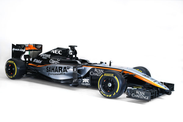Force India VJM08 Livery Reveal Museo Soumaya, Mexico City, Mexico Wednesday 21 January 2015. World Copyright: Sahara Force India (Copyright Free) ref: Digital Image jm1521ja02