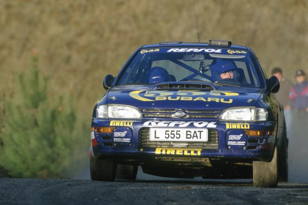 1994 World Rally Championship.Portuguese Rally, Portugal. 1-4 March 1994.Colin McRae/Derek Ringer (Subaru Impreza 555), retired.World Copyright: LAT PhotographicRef: 35mm transparency 94RALLY18